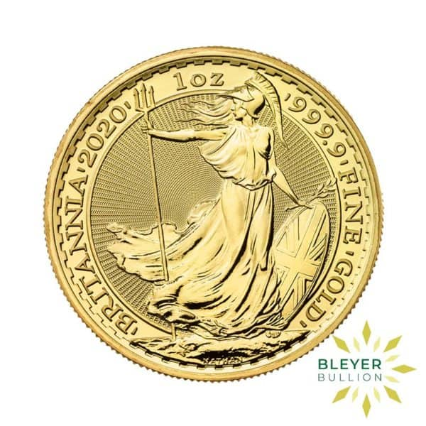 Bleyers Coin Cutouts 2020 Gold UK Britannia Coins 1oz Front