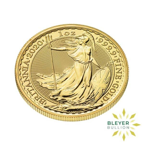 Bleyers Coin Cutouts 2020 Gold UK Britannia Coins 1oz Side
