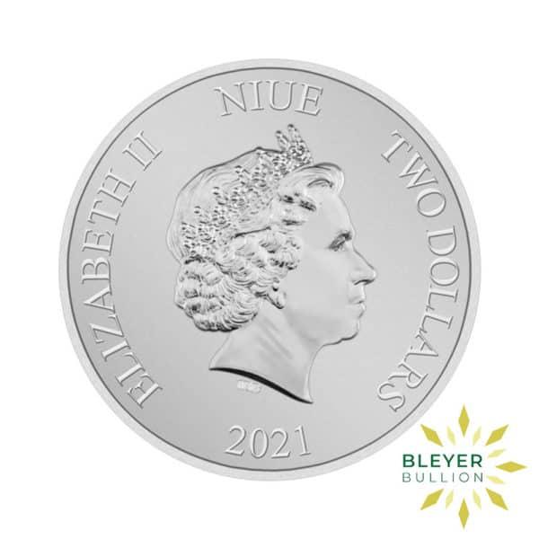 1oz Silver NIUE Millennium Falcon Coin 2021 Back