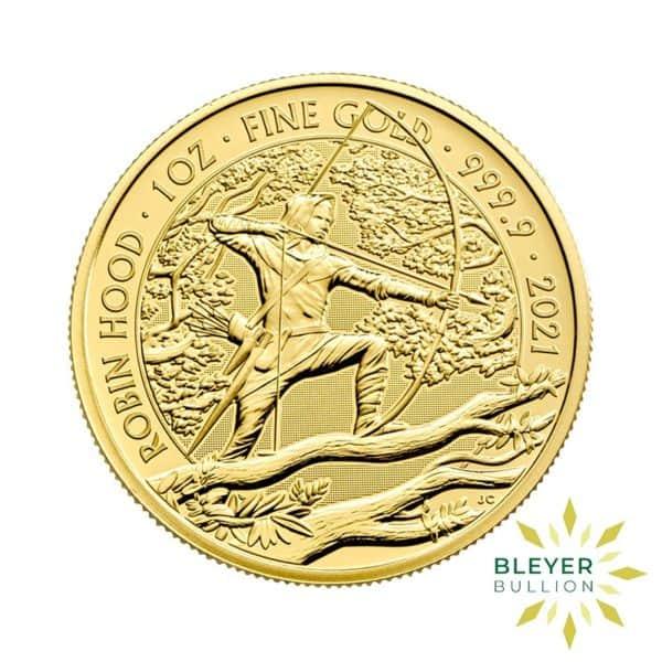 Bleyers Coin 1oz Gold UK Robin Hood Coin 2021 1