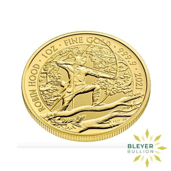 Bleyers Coin 1oz Gold UK Robin Hood Coin 2021 3