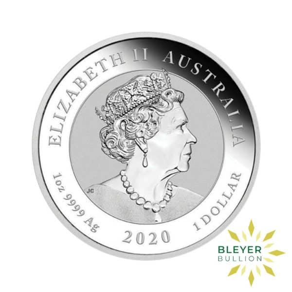 Bleyers Coin 1oz Silver Australian Guardian Lions Double Pixiu Coin 2020 Back