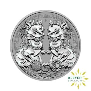 Bleyers Coin 1oz Silver Australian Guardian Lions Double Pixiu Coin 2020 Front1