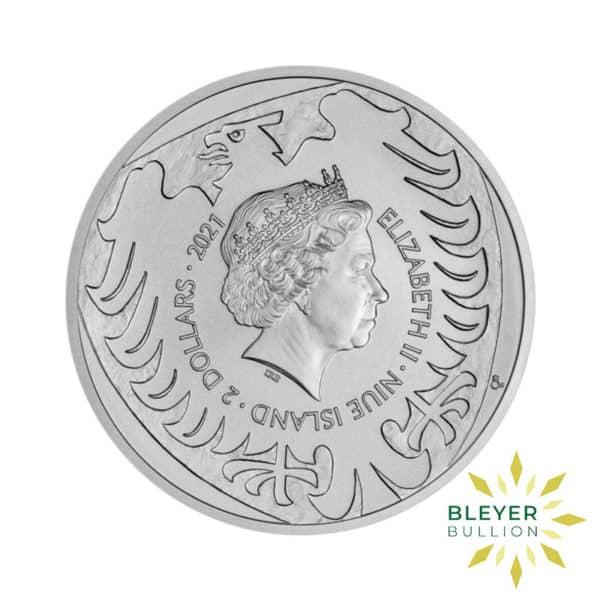 Bleyers Coin 1oz Silver NIUE Czech Lion Coin 2021 Back