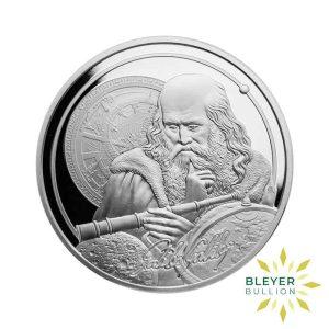 Bleyers Coin 1oz Silver NIUE Icons Of Inspiration Galileo Coin 2021 Front