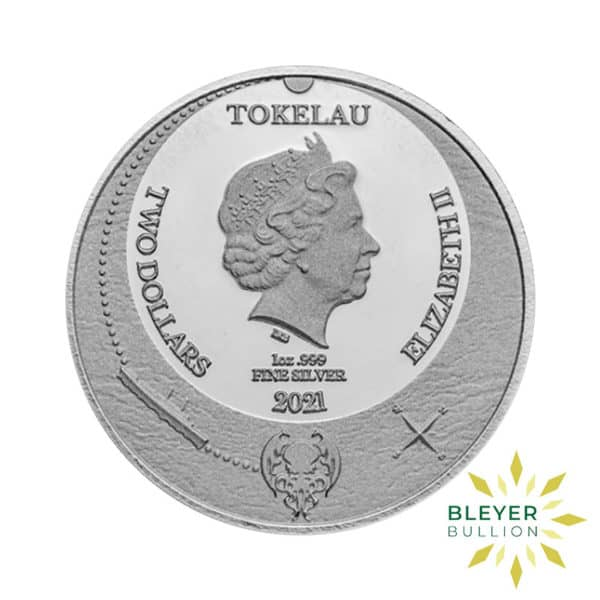 Bleyers Coin 1oz Silver Tokelau The Great Old One Cthulhu Coin 2021 Back2