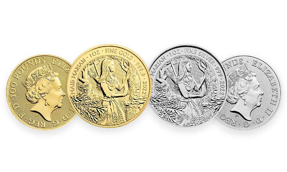 Image of The Royal Mint's 2022 Maid Marian Coin