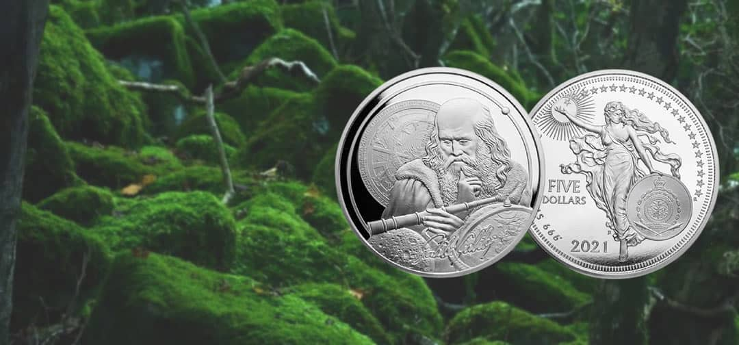 NEW The New Zealand Mint's 2021 1oz Silver Galileo Coin