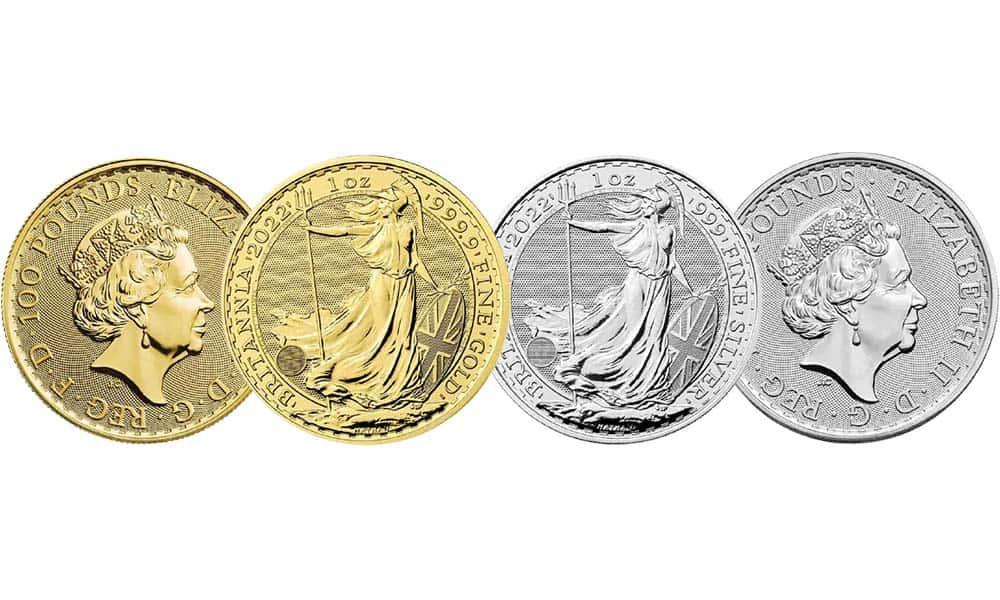 NEW The Royal Mint's 2022 1 oz Gold & Silver Britannia Coins
